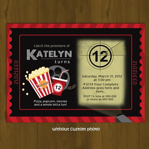Cinema Ticket Invitation - Movies and Popcorn · Splashbox ...