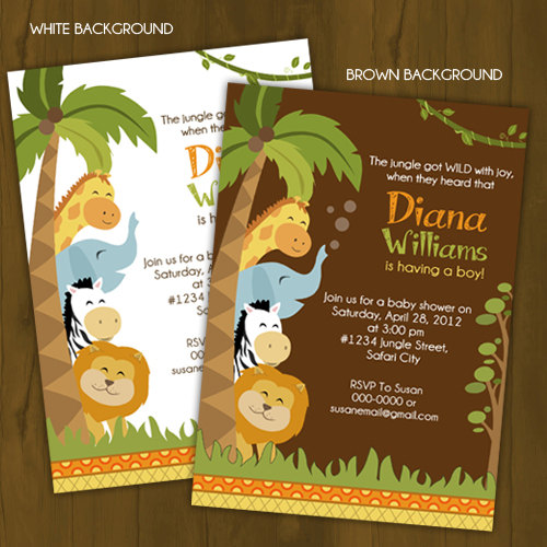 safari baby shower invitation splashbox printables online store