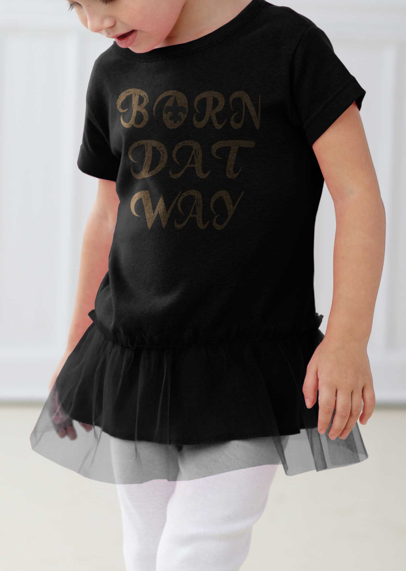 Born DAT Way Baby New Orleans SAINTS Toddler Tutu · Love