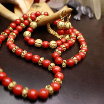 Hegemon of Earth Necklace, Bracelet, Earring Set