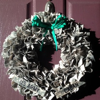 Army ACU Wreath WITH Nametapes