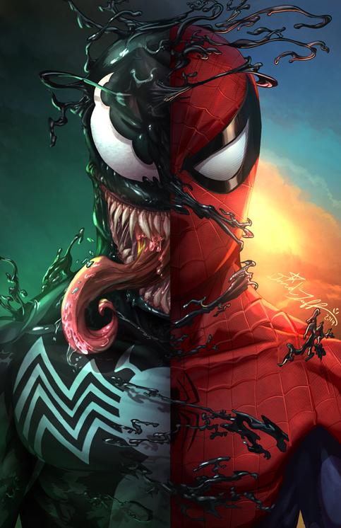 u0026quot spiderman    venom u0026quot  art print on storenvy