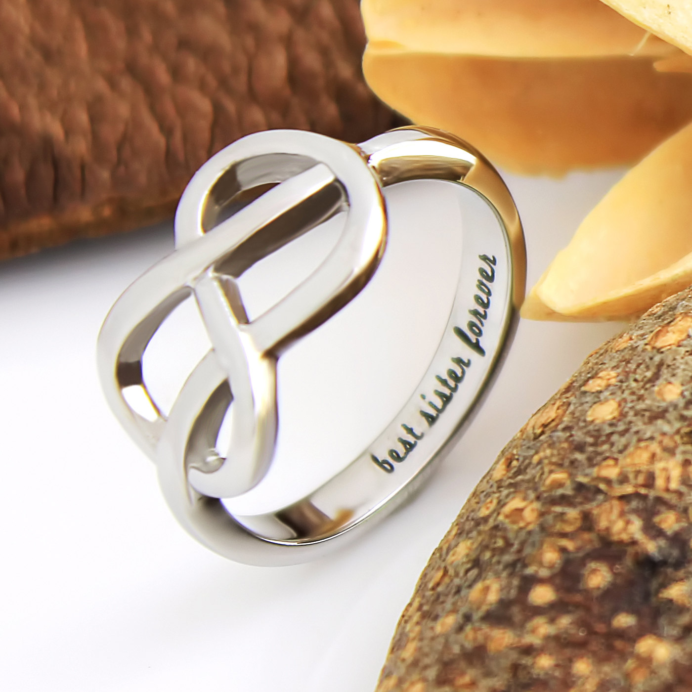 TZARO JEWELRY | Sisters Ring, Infinity Ring, Promise Ring for ...