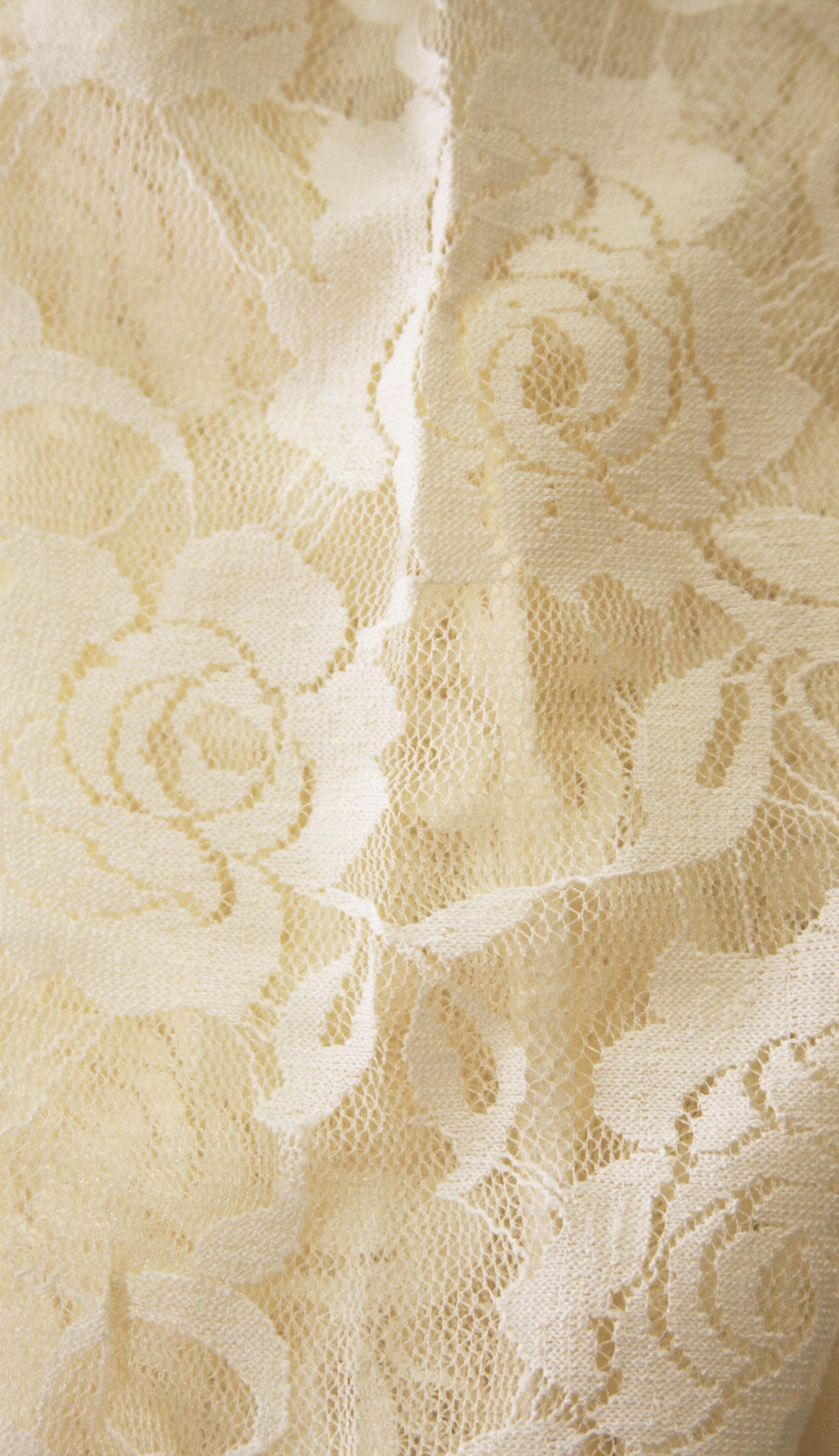 d1a7e6931f5 ... Cream Floral Lace Leggings