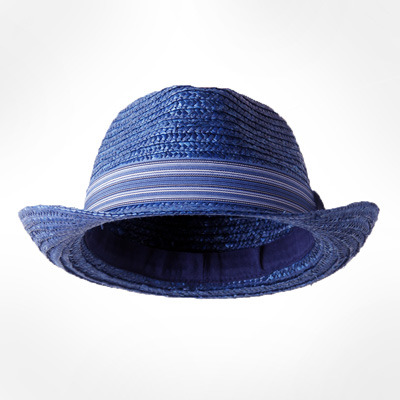 Men's Corn Husk and Matching Stripe Band Trilby