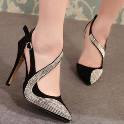 Diamonds women fashion pointed toe high heels shoes g-2981
