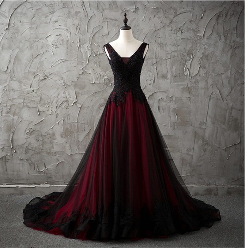 Gothic Red Black Wedding Dress A Line Pageant Dresses Prom Evening Ball Gown Bridesdayprom Online Store Powered By Storenvy,Wedding Purple And Turquoise Bridesmaid Dresses