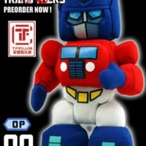 Cute Hand Made Plush Transformers Doll, Optimus Prime