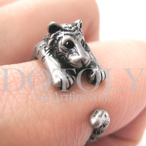 Miniature Tiger Ring in Silver Sizes 4 to 9 available