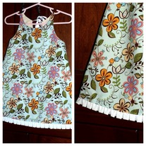 **ON SALE** Blue Floral Dress (Not Reversible)
