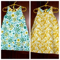 **ON SALE** Blue Daisy/Yellow Floral Reversible Dress
