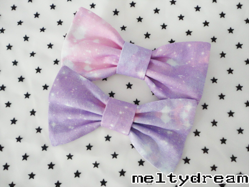 Pastel galaxy twin bows on storenvy for Pastel galaxy fabric