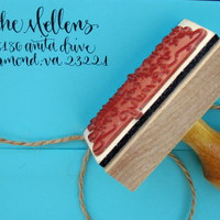 Custom Calligraphy Address Stamp (All Handwritten - ELLE Style) - Thumbnail 1