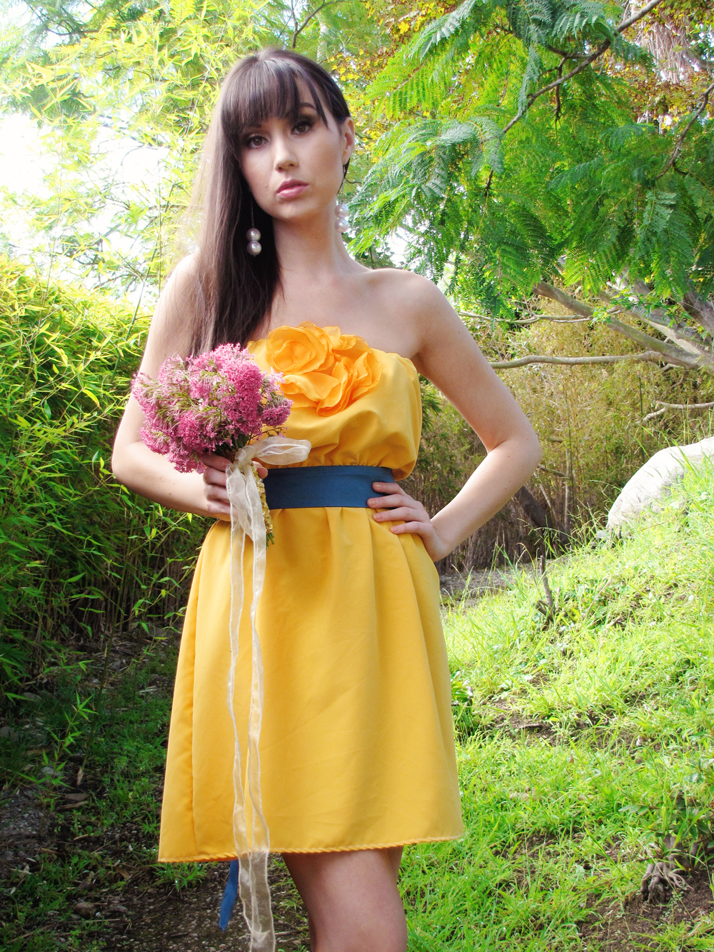 Gold yellow country chic bridesmaid dress cgheaven bridesmaid gold yellow country chic bridesmaid dress ombrellifo Choice Image