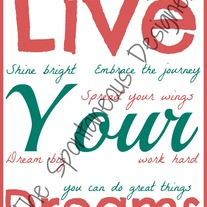 Live your dreams subway art digital file