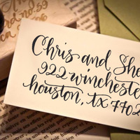 Custom Calligraphy Address Stamp (All Handwritten - ELLE Style) - Thumbnail 2