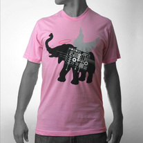 Men's Winged Elephant - Pink