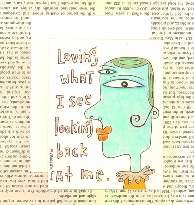 I Love What I See Looking Back At Me - Card