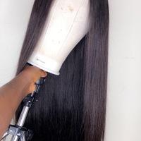 30 inches Silky Straight Raw Human Hair Closure  (Handmade Wig) - Thumbnail 2