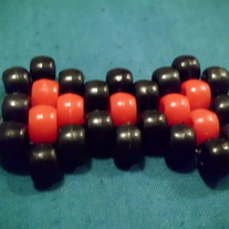 Black and Red Kandi Bow