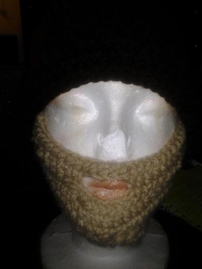 Crochet Hat with Face Covering