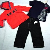 "DKNY Boys 3-Piece ""Chopper"" Set"