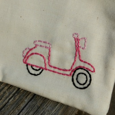 Just stitched scooter zippy