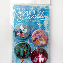 Royal Wedding button set!