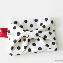 Dotty Bow Zip Pouch