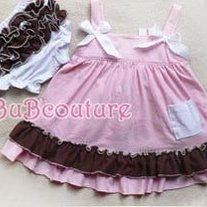 Ruffle Dress Neopalitan Ice Cream Pink Brown and White Swing Set with Ruffle Bloomers Baby Girls