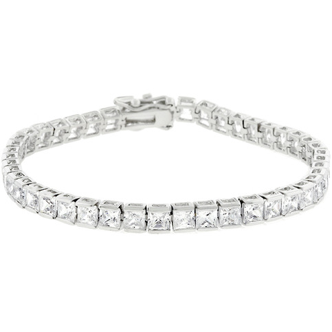 clear cubic zirconia tennis bracelet mj 39 s fashion jewels. Black Bedroom Furniture Sets. Home Design Ideas