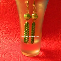 Bead dangles mint green