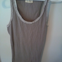 Hollister Tan Lace Edge Tank Top (S)