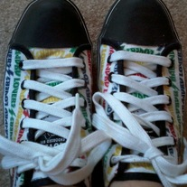 Harajuku Lovers Red/Blue/Green/Yellow Sneakers (8)