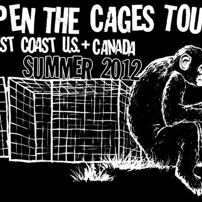 Open the cages 2012 tour t-shirt! - reduced price! last chance!