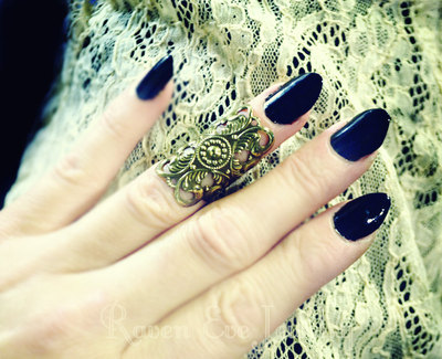 Filigree knuckle ring midi ring adjustable three color choices