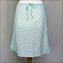 Light Blue Cotton Skirt