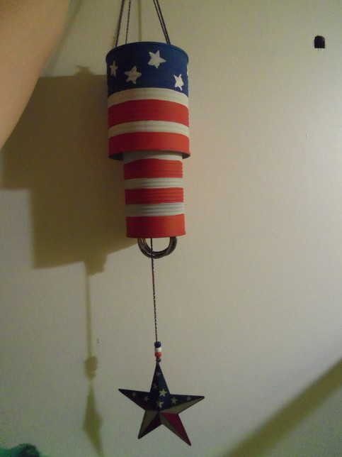 Amber 39 s store patriotic eco friendly wind chimes for Wind chimes from recycled materials