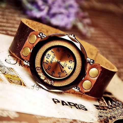 Handmade Vintage Luxury Set Auger Leather Watches Women ...