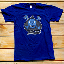 Skully Spade T-Shirt - Mens - Blue