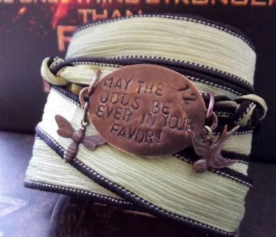 The Hunger Games Inspired Wrap Bracelet-Favor