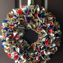 USA Round Wreath WITHOUT NAMETAPE