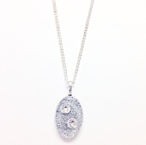 Swarovski Crystal Silver Pendant Necklace