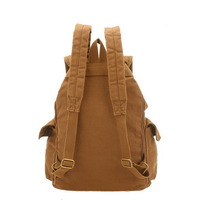 Fantastic multi pockets canvas backpack unisex - Thumbnail 1