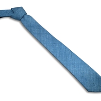 Light Blue Raw Silk Tie