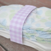 Diaper and Wipes Strap {violet gingham}