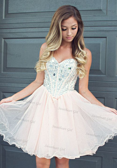 Sweetheart Girl | Cute A-line Sweetheart neckline Tulle Short Prom ...