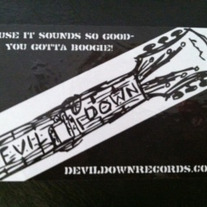 Devil Down Sticker