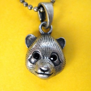 ONE DOLLAR SALE - Baby Panda Bear Animal Charm Necklace in Silver