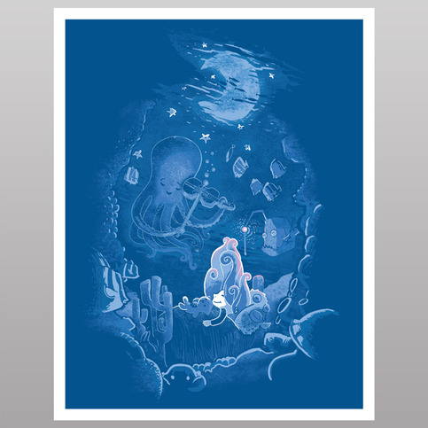 Sleeping With The Fishes (print)